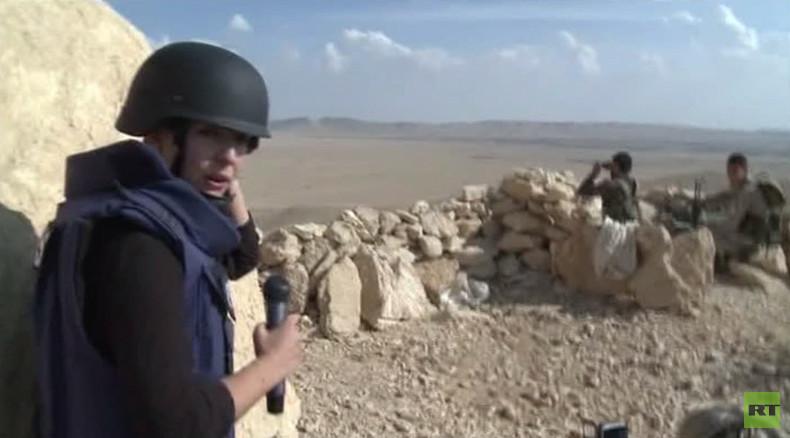 RT Exklusiv von der Frontlinie des Kampfes um Weltkulturerbe Palmyra in Syrien