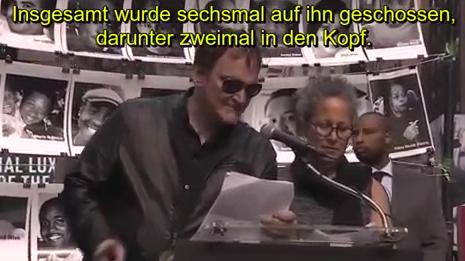 Quentin unchained: Tarantino nimmt an Dauerkundgebung gegen Polizeigewalt in New York teil