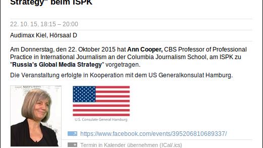 Maulwurf in der Botschaft? US-Vertretung schickt Ann Cooper auf Deutschlandtour, um für RT zu werben