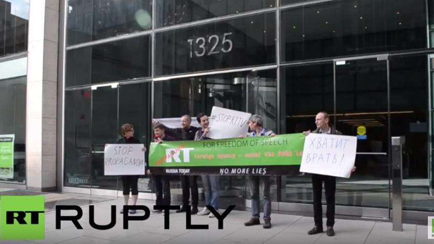 Anti-RT-Protest in der US-Hauptstadt bringt ganze 6 Leute auf die Straße