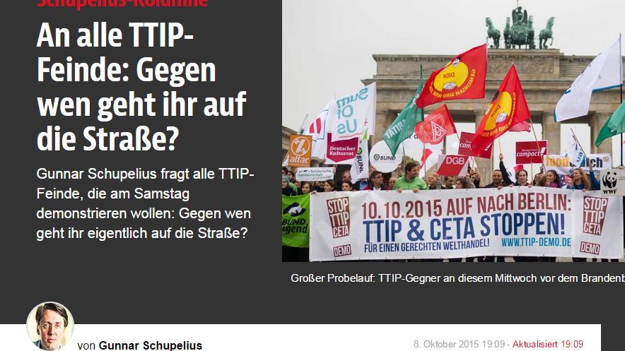 """Antwort an die B.Z.: TTIP-Gegner """"fundamentalistisch, nationalistisch und hysterisch""""?"""