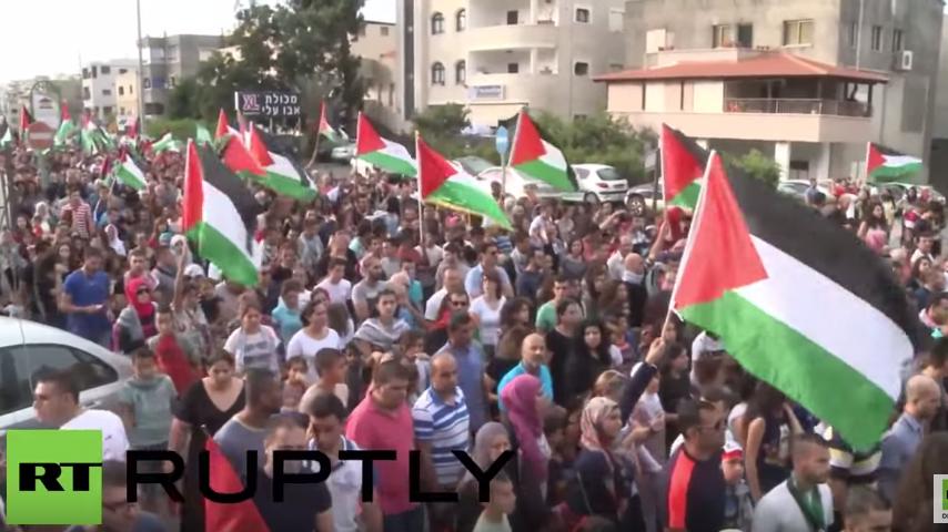 Israel: 20.000 Araber protestieren für Palästina - Netanjahu kündigt Abriegelung arabischer Viertel an