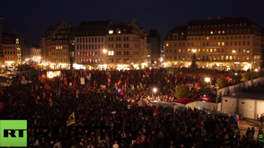 Dresden: Tausende kommen zu Pegidas Montagsprotest