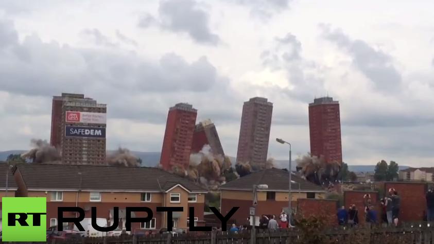 Spektakuläre Sprengung in Glasgow missglückt