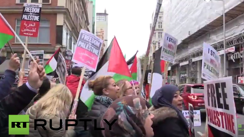 Live: Pro-Palästina-Protest in London
