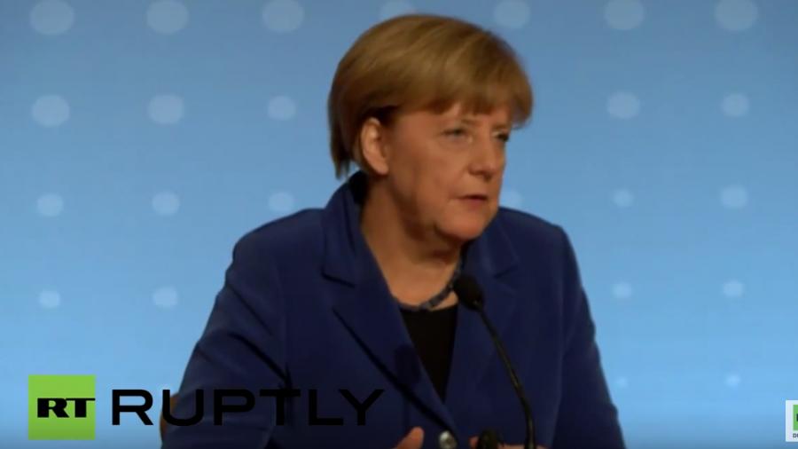 Pressestatements von Bundeskanzlerin Merkel im Anschluss an Normandie-Treffen in Paris