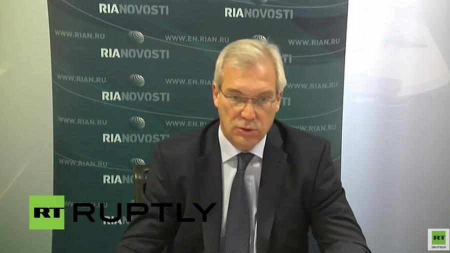 Live: Nach NATO-Treffen - Videokonferenz mit NATO-Botschafter Gruschko in Moskau