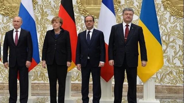 Live: Ankünfte der vier Regierungschefs zum Normandie-Treffen zu Minsk 2 in Paris