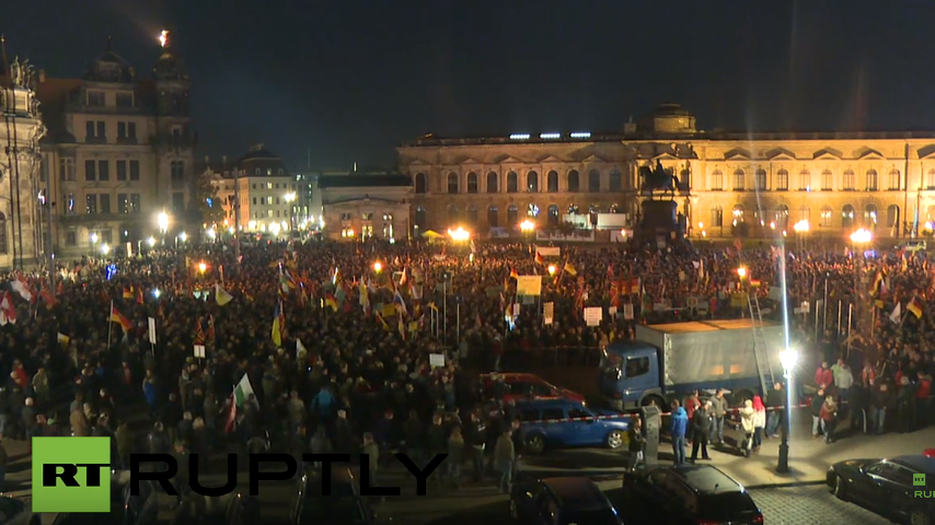 Live: Pegida und Gegner protestieren in Dresden