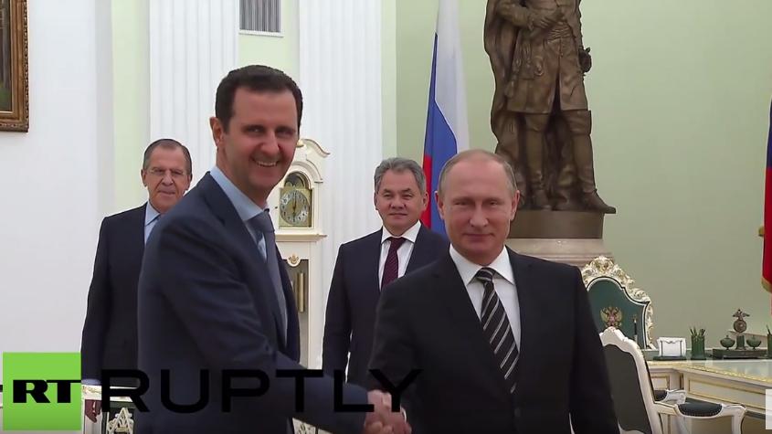 """Assad auf Staatsbesuch in Moskau: """"Ich möchte Russland für die Hilfe danken"""""""