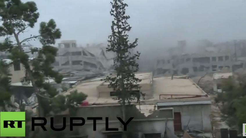 Syrien: Mörsergeschoss schlägt fünf Meter neben RT-Crew ein