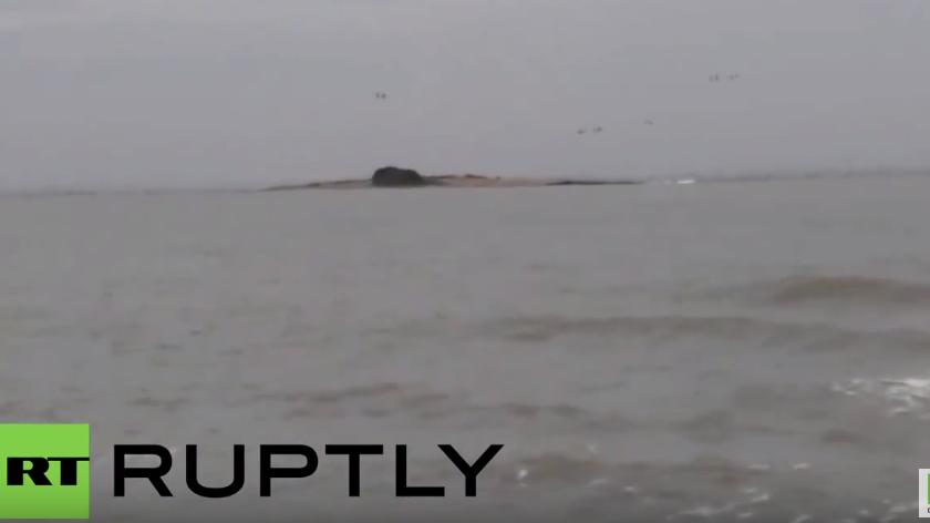 Seltenes Naturphänomen: Vor Russlands Küste bricht ein Schlammvulkan aus