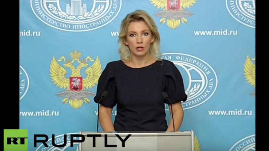 Live: Pressebriefing durch die Sprecherin des russischen Außenministeriums Maria Zacharowa zu Syrien