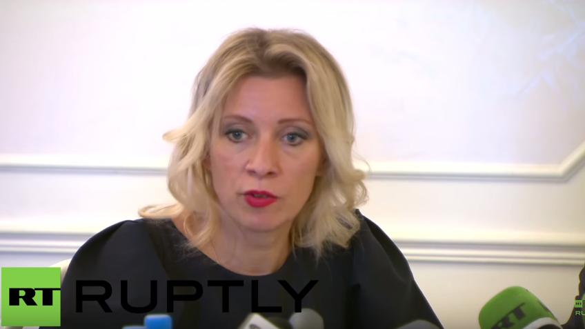 Live: Maria Zakharowa hält wöchentliches Pressebriefing in Moskau
