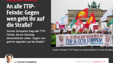 Findet TTIP super: B.Z.-Kolumnist Gunnar Schupelius