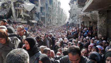 Symbolbild - Yarmouk Flüchtlingscamp in Damaskus - Quelle: RT