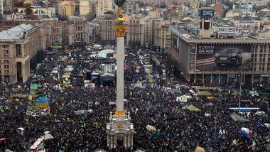 53 Prozent glauben, dass sich der Maidan bald wieder füllen wird - Quelle: Ruptly