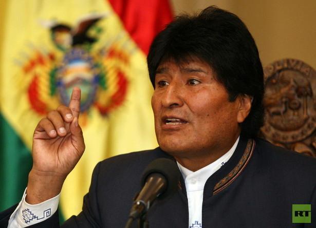 Präsident von Bolivien und scharfer US-Kritiker Evo Morales auf Staatsbesuch in Deutschland