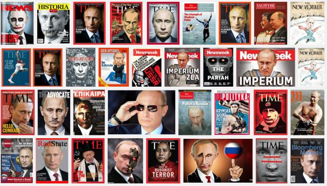 Verschiedene Nachrichtenmagazine mit dem Top-Thema Putin