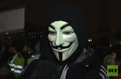 Anonymous wird wütend: Million Mask March in London schlägt in Gewalt um