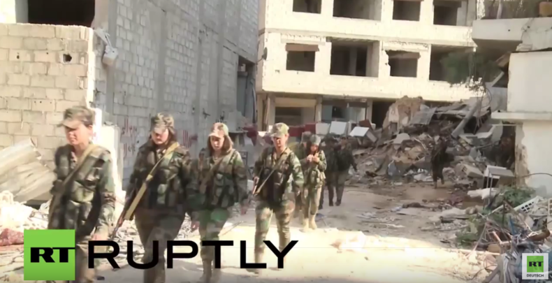 Syrien: Frauenbrigade kämpft gegen Dschihadisten nahe Damaskus