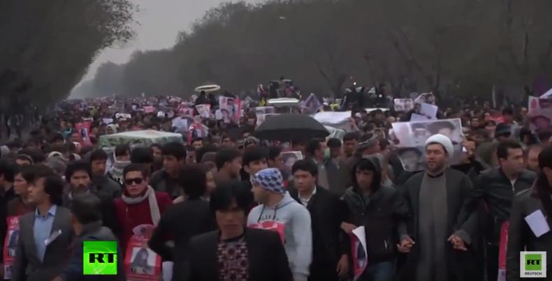 Massiver Anti-IS-Protest in afghanischer Hauptstadt nach Enthauptung von schiitischen Hasaras