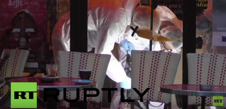 Gerichtsmediziner untersuchen Sprengstoffgürtel und Überreste von Selbstmordattentäter in Paris