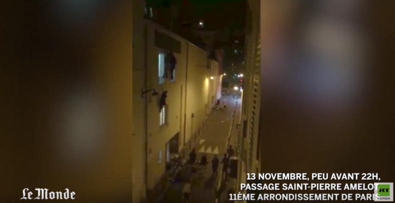 Paris Bataclan-Konzerthalle: Verzweifelte Fluchtversuche  - Menschen hängen aus Fenstern