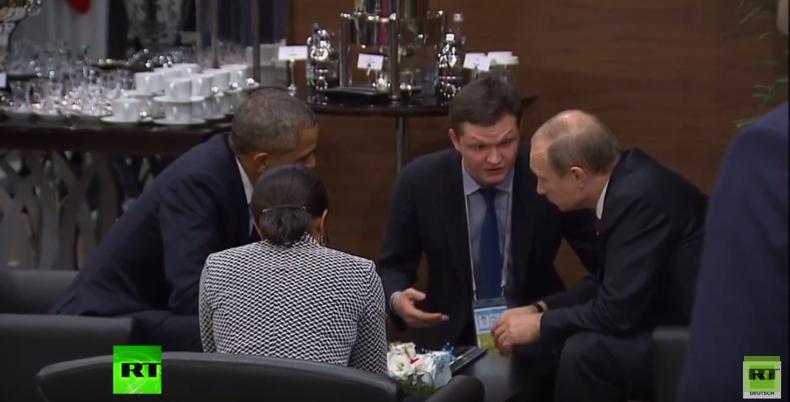 Putin und Obama setzen sich am Rande des G-20-Gipfels in Antalya für Gespräch zusammen
