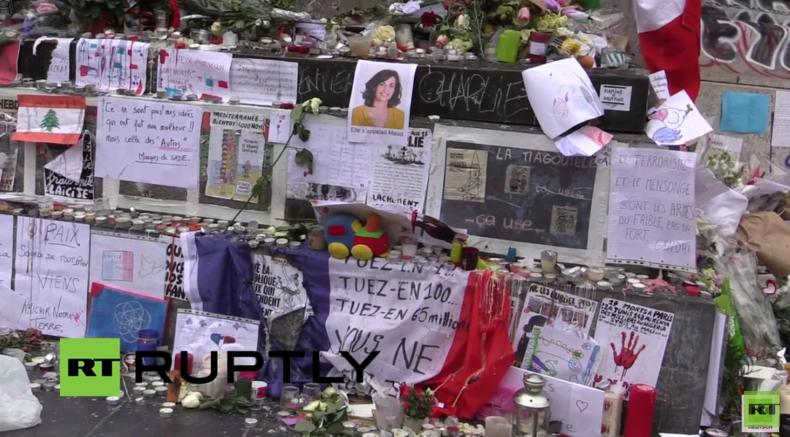 Live: Trauernde besuchen Platz der Republik in Paris