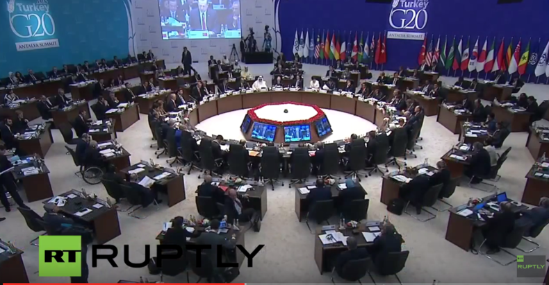 Live: Staats- und Regierungschefs der G-20 halten Schweigeminute für Pariser Terroropfer