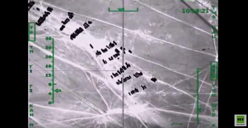 Russische Luftstreitkräfte greifen Tanker-Kolonne an