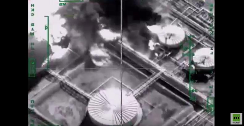 Syrien: Luftwaffen-Angriff auf Ölförderanlage des Islamischen Staates