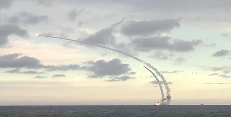 Syrien: Russische Marine greift den IS mit Landangriffsmarschflugkörpern an