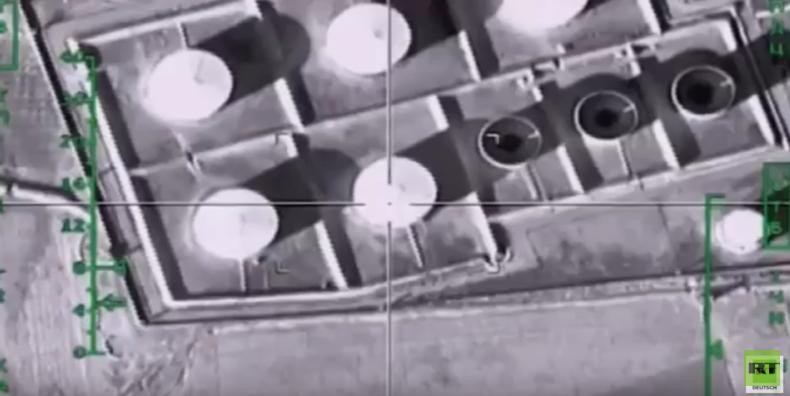 Syrien: Russischer Luftangriff auf Ölproduktionsanlage von Terroristen