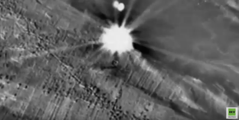 Syrien: Einschlag eines Kalibr-Marschflugkörpers in Kommandozentrale von Terroristen