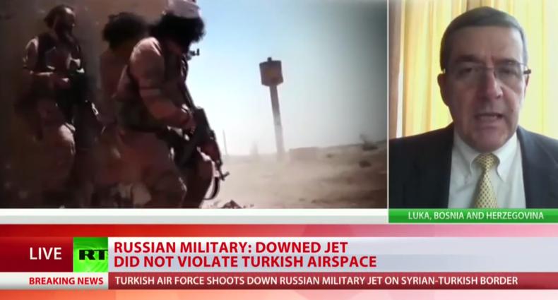 Live-Berichterstattung von RT zum Su-24 Abschuss durch die Türkei (englisch)