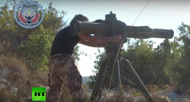 FSA-Video zeigt angeblich Abschuss von russischem Helikopter mit US-gefertigter TOW-Rakete