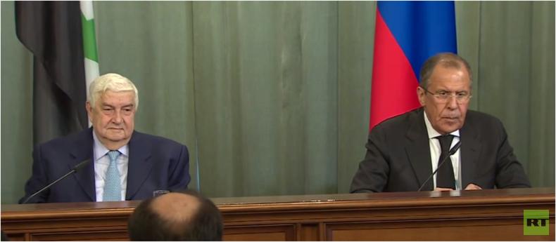 Live: Außenminister Lawrow und Syriens Walid al-Moallem bei gemeinsamer Presseerklärung (engl.)