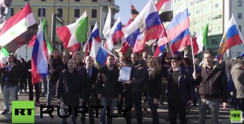 Nach Abschuss der Su24 überall auf der Welt Pro-Russland und Anti-Erdogan-Proteste