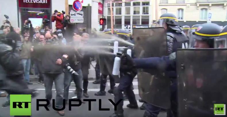 Paris: Heftige Zusammenstöße und über 100 Verhaftungen bei Klima-Protest