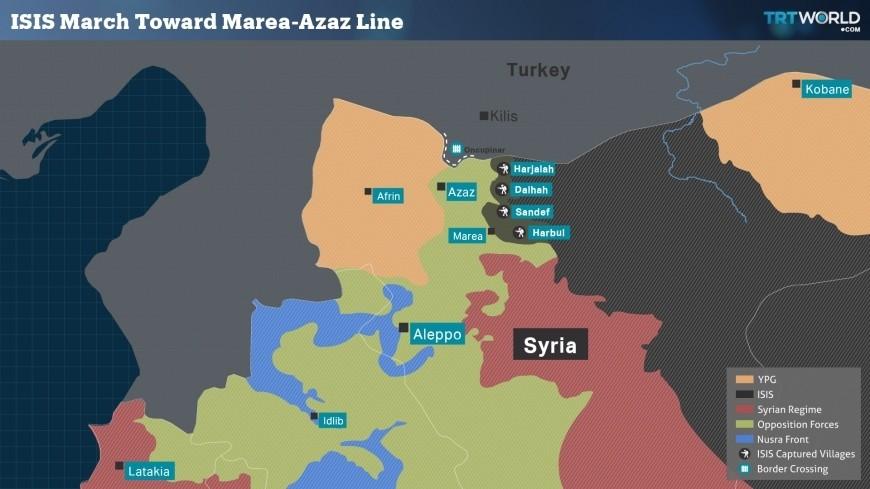 Quelle: TRT World/ Region zwischen Azaz und Dscharablus