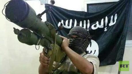 IS-Kämpfer mit schulterbasierter Luftabwehrrakete - Symbolbild