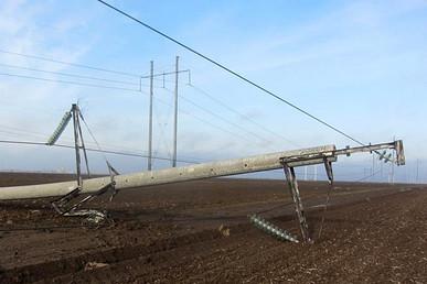 Gesprengter Strommast. Quelle: msk.kp.ru