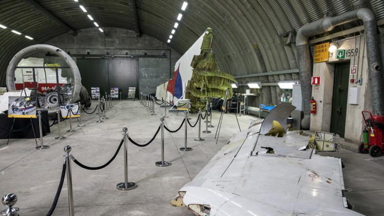 MH17-Wrackteile im niederländischen Gilze Rijen