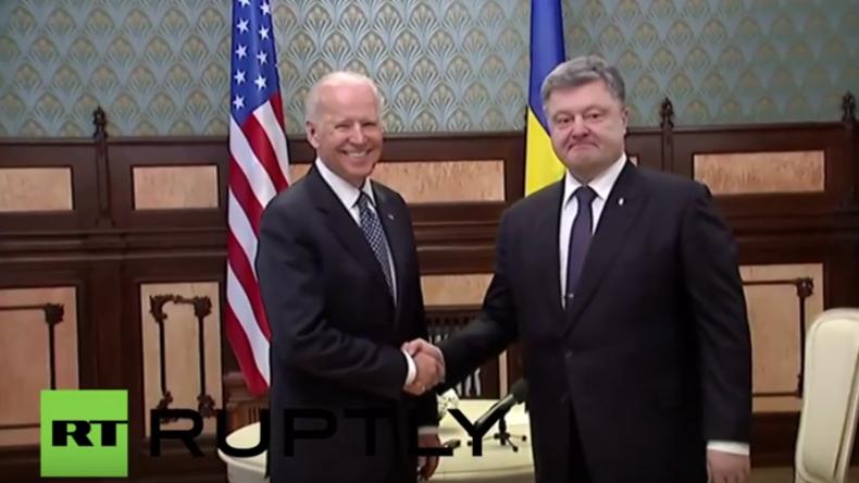 Poroschenko trifft US-Vizepräsident  Biden in Kiew: Business, Dollars und Russland-Bashing