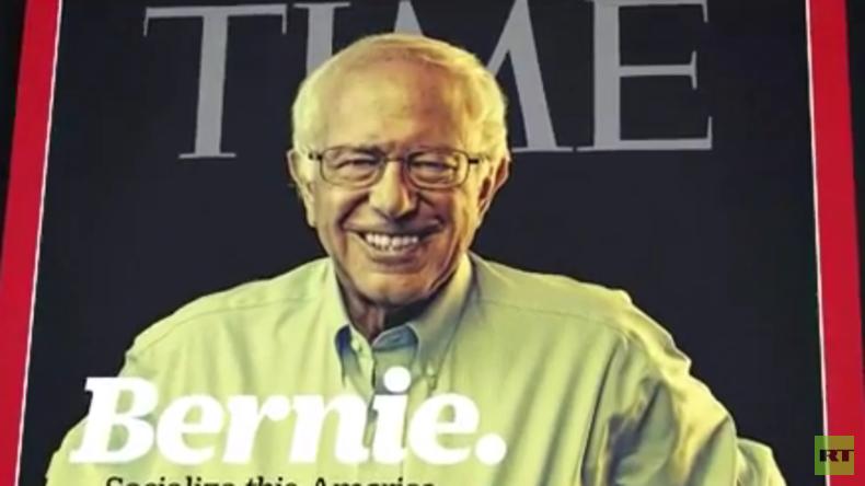 """Bernie Sanders zur """"Person des Jahres"""" in Internetumfrage des Time-Magazins gewählt"""