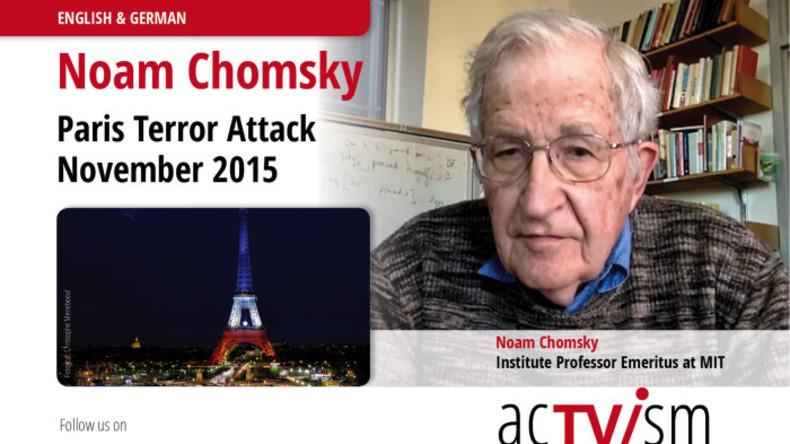 """Noam Chomsky über die Paris-Attentate und die Absurdität des aktuellen """"Anti-Terror-Kampfes"""""""