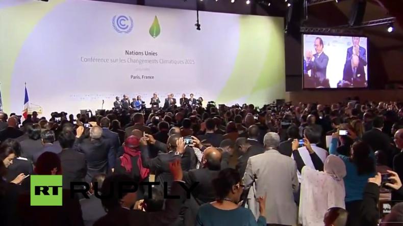 Live: Schlussreden nach COP21 von Hollande, Fabius und Ban Ki-moon