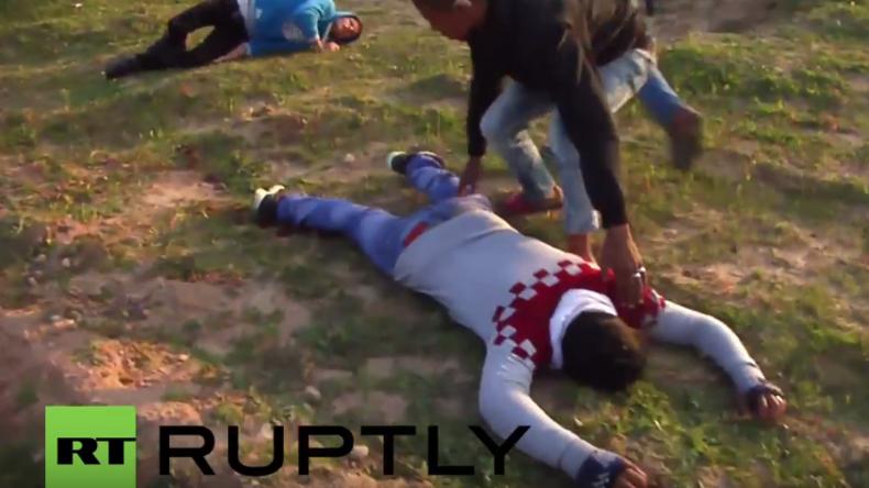 Palästina: Israelische Soldaten töten einen Demonstranten und verletzen mehr als 30 in Gaza